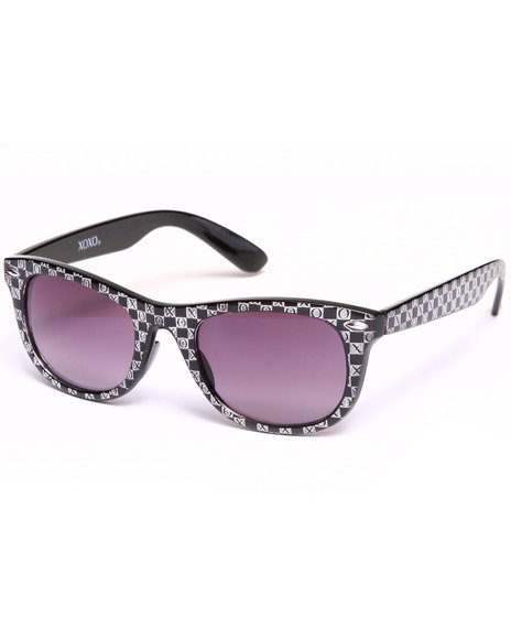 Xoxo Women Checkerboard Logo Sunglasses Black
