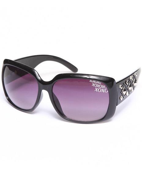 Xoxo Grommet Temple Big Eye Sunglasses Black