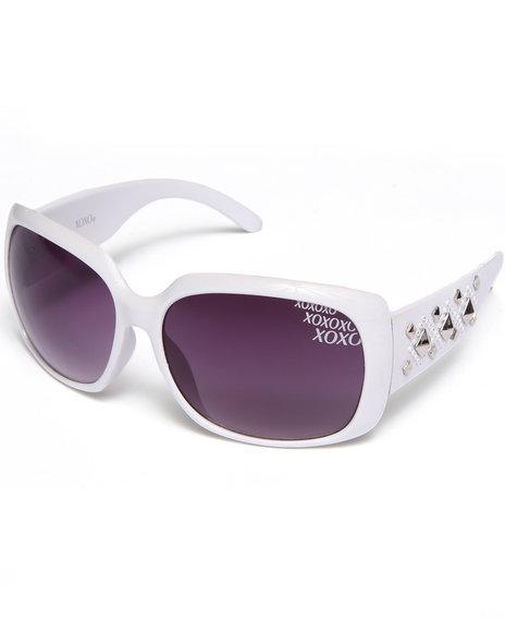 Xoxo Grommet Temple Big Eye Sunglasses Silver