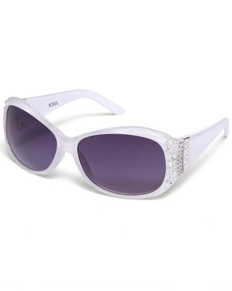 Xoxo Bling Temple Sunglasses Silver