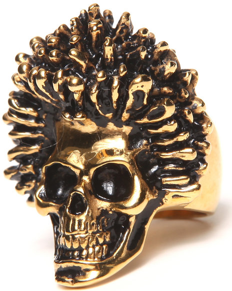 Han Cholo Gold Sid Skull Ring