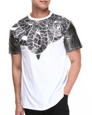 Buyers Picks - Snake neck lace w/ Faux Crocodile Sleeve detail Tee