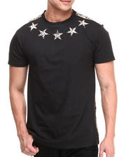 Buyers Picks - Flower Faux Leather Trim Star Tee
