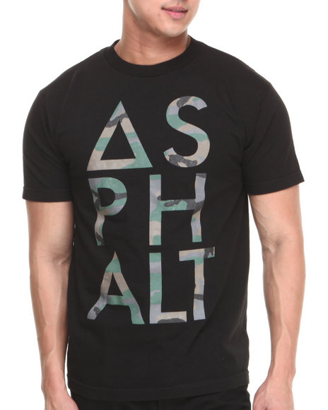 Asphalt Yacht Club - Men Black Camo Knockout Tee