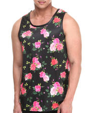 Buyers Picks - Flowers N Stuff Faux leather Trim Tank Top