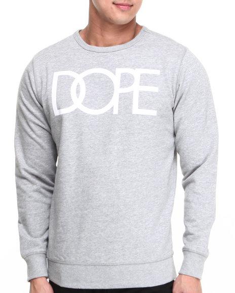 DOPE Grey Dope Logo Crewneck