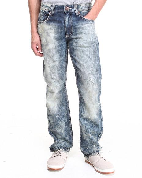 Buyers Picks - Men Dark Wash Vintage True Wash Premium Straight Fit Denim Jeans