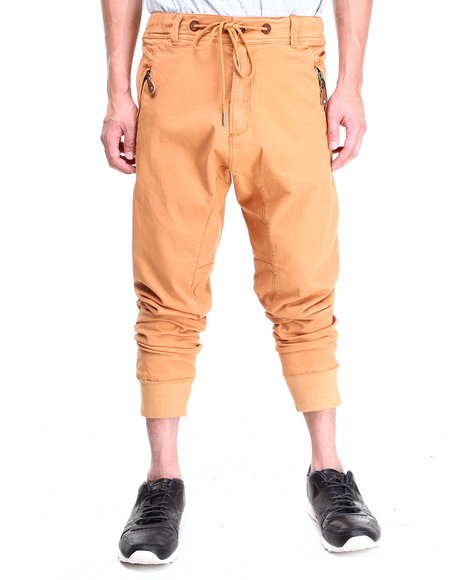 Buyers Picks - Men Orange Twill Premium Pants (Elastic Band Leg Opening)