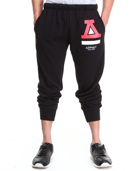 Asphalt Yacht Club - Men Black Basic Fleece Pants