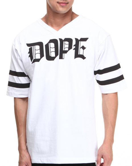 DOPE White M.O.B. Football Jersey