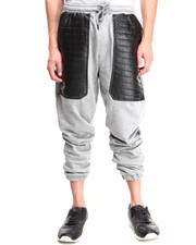 Jeans & Pants - Terry cloth Faux Leather trim sweatpants
