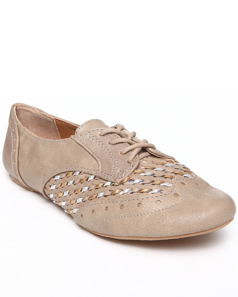 Not Rated Brown Metallic Braided Jaz Oxford