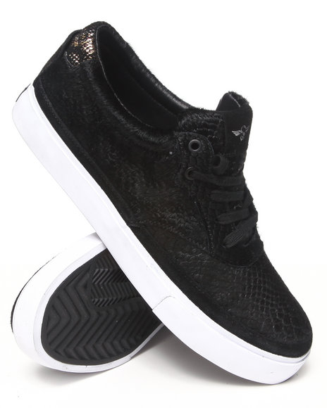 Creative Recreation - Men Black Prio Faux Snakeskin Sneaker