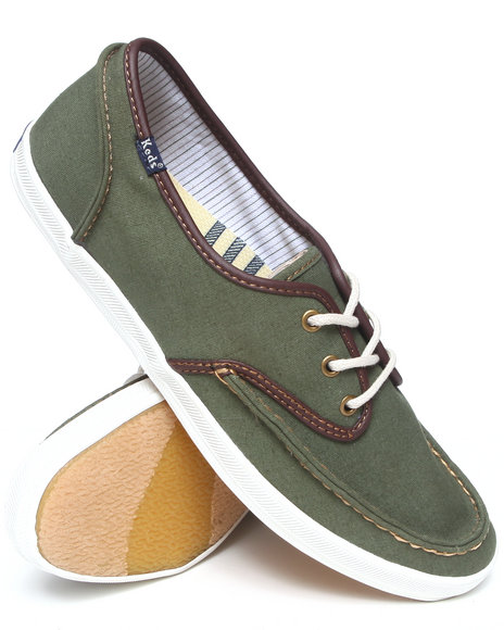 Keds - Men Olive Champion Skipper Canvas Lo