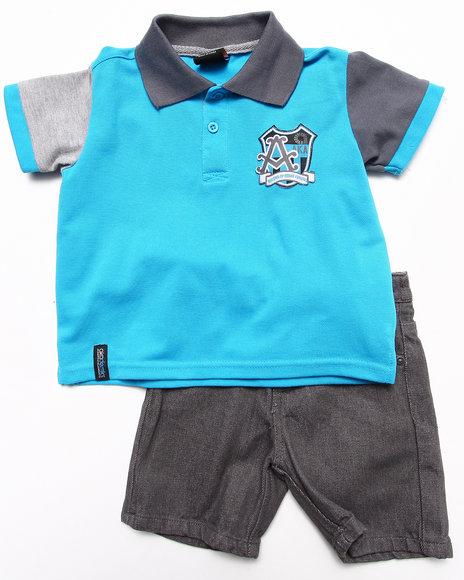 Akademiks Boys Blue 2 Pc Set Polo & Shorts (2T-4T)