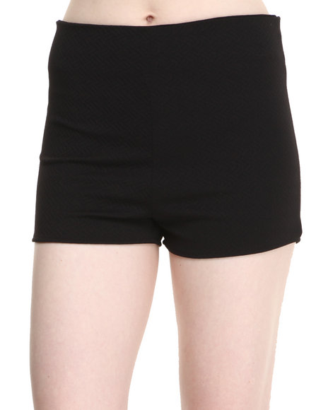 Fashion Lab - Women Black Carlie High Waisted  Jacquard Short - $5.99