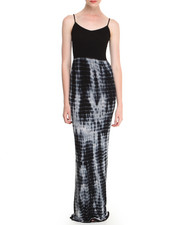 Dresses - Seamless Cami Maxi Dress w/ Tie Dyed Bottom
