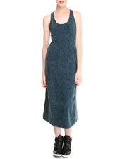 Women - Cleo Acid Wash Racerback Maxi Dress w/ Front Pocket