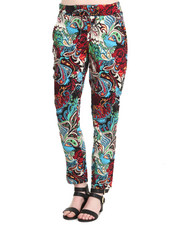 Fashion Lab - Challis Large Print Drawstring Pant