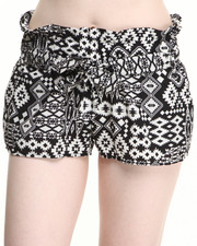Bottoms - Valley Suns South Western Print Short w/belt
