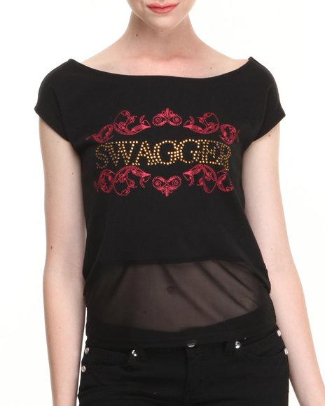 COOGI Black Coogi Swagger Scoop Neck Tee