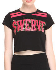 "Women - Short Sleeve ""Swerve"" Crop Top"