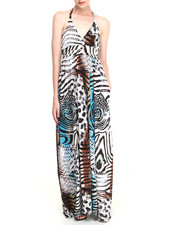 Dresses - Halter Safari Maxi Dress