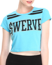 "COOGI - Short Sleeve ""Swerve"" Crop Top"