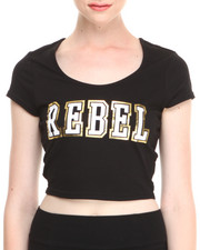 "COOGI - Two-Tone ""Rebel"" Crop Top"
