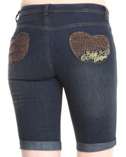 Women - Stones Pocket Bermuda Jeans