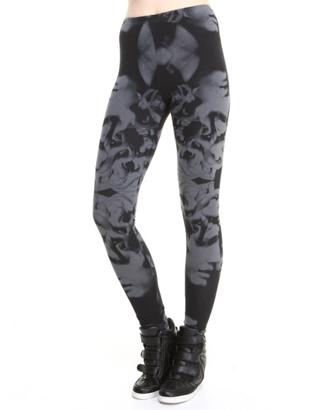 Crooks & Castles Black Khellenist Knit Leggings