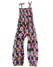 Sizes 7-16 - Big Kids - Floral Jumpsuit (7-16)
