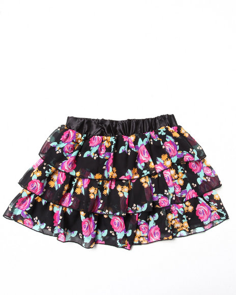 Blac Label - Girls Multi Chiffon Tier Skirt (7-16)