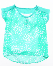 Sizes 7-16 - Big Kids - CHIFFON HENLEY W/ CAMI (7-16)