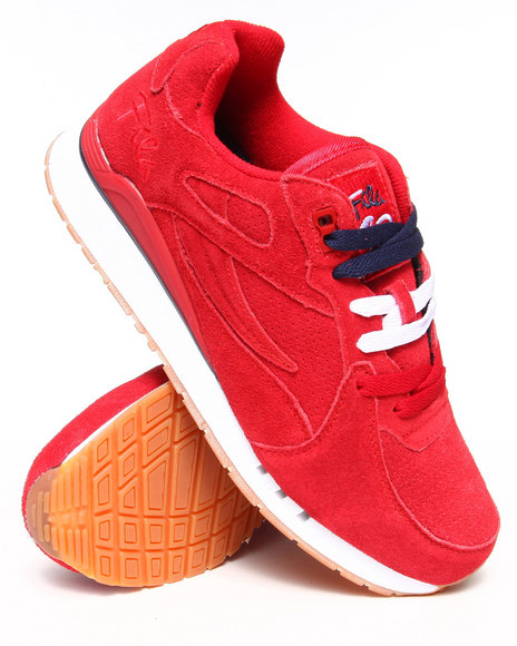 Ur-ID 222872 Fila - Men Red Overpass Suede Sneaker by Fila