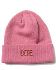DOPE - Rose Gold Metal Logo Beanie