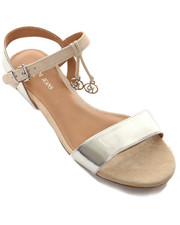 Shoes - Flat Sandal w/ Mirror Strap