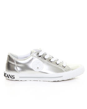Armani Jeans - Metallic Leather Sneaker w/ Crystal Detail
