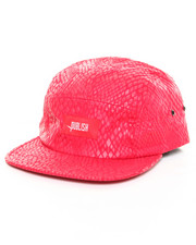 Men - Snakeskin Print 5 Panel Hat