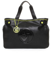 Handbags - Eco Tumbled Leather Bag w / Neon Stud Detail