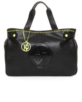 Armani Jeans - Eco Tumbled Leather Bag w / Neon Stud Detail