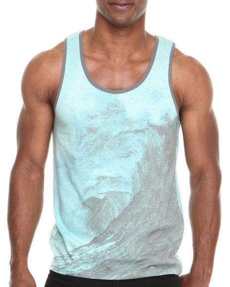 Buyers Picks - Men Blue Wave Sublimation Tank - $9.99
