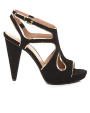 Shoes - Cage Heel Sandal w/ Mirror Trim