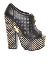 Shoes - Urban Perforated Zip Wedge