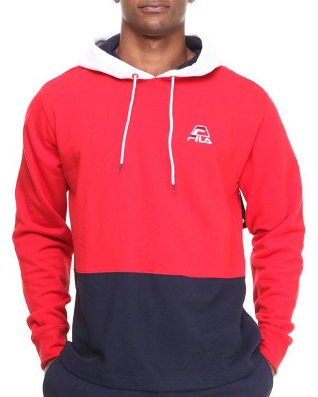 Fila Red Hero Fleece Pullover Hoodie