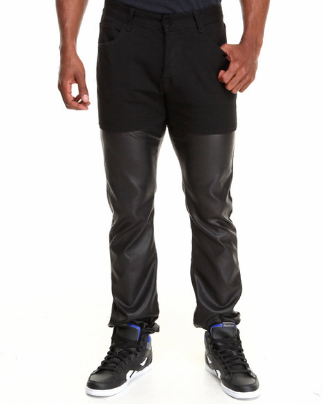 Forte' - Men Black Double Tone Denim Jeans - $48.99