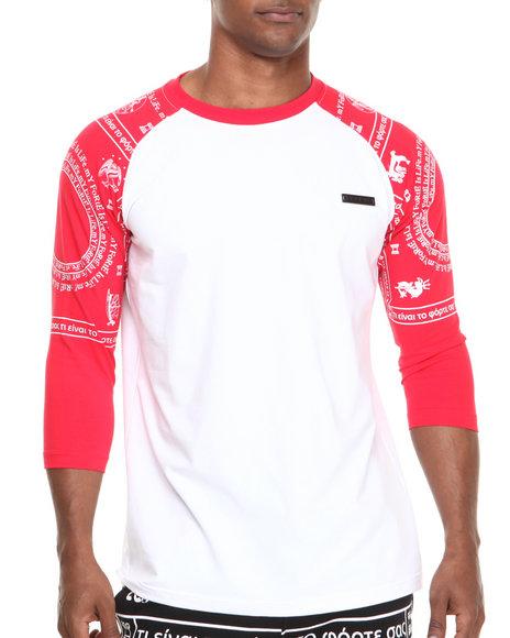 Forte' Red Ramon Printed Raglan