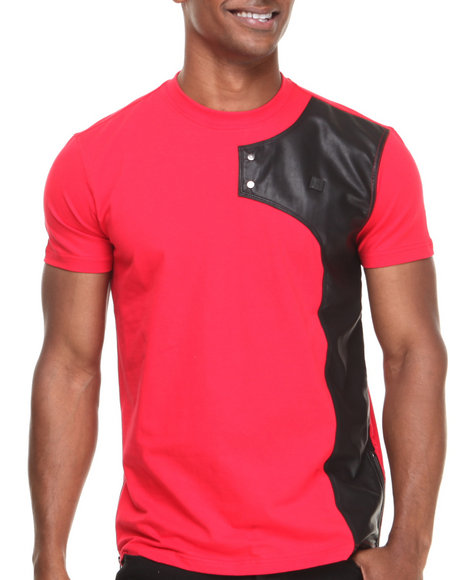 Forte' Red Neo P U Trimmed S/S Tee W/ Zippers