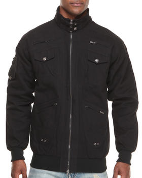 Pelle Pelle - 2 way zip up twill Jacket