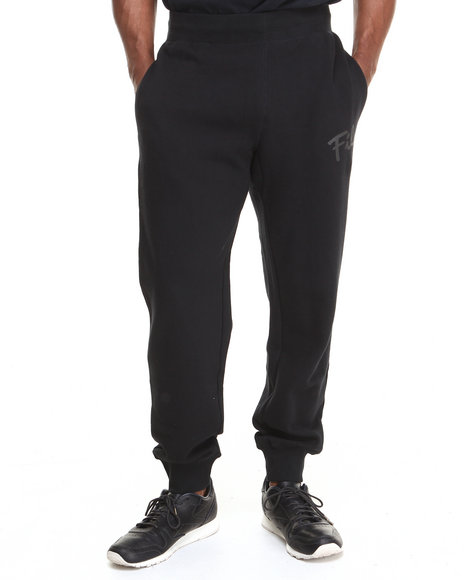 Fila - Men Black Fila Tonal Sweat Pants - $34.99